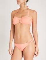 LAZUL Luana bandeau bikini top Enea apricot – halter swimwear
