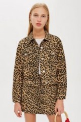 Topshop Leopard Fitted Denim Jacket | animal prints | casual galm