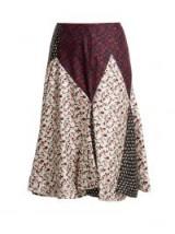 CALVIN KLEIN 205W39NYC Liberty floral-print silk skirt / mixed prints