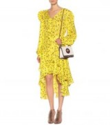 PREEN BY THORNTON BREGAZZI Margot printed dress ~ yellow summer event wear