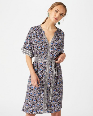 Jigsaw MAYAN TILE FRILL DETAIL DRESS – summer style