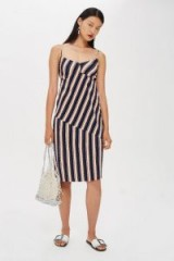Topshop Mix Stripe Slip Dress | summer cami frock