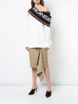 MONSE logo one shoulder jumper / oversized knitwear