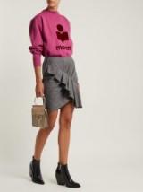 ISABEL MARANT ÉTOILE Nel ruffled grey wool mini skirt | gathered frill trim