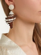 REBECCA DE RAVENEL Ophelia shell and gold-plated clip-on earrings ~ sea inspired statement jewellery