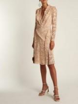 ALTUZARRA Ourika Valencienne-lace dress / rose beige floral lace / romantic