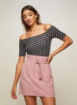 Miss Selfridge Pale Pink Paper bag A-Line Skirt