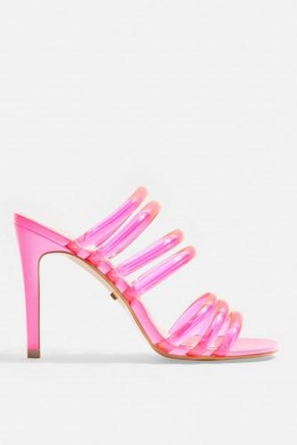 TOPSHOP Pink Perspex Mules