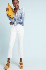Pilcro High-Rise Cropped Bootcut Jeans in White | summer denim
