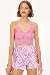 TOPSHOP Pink Sequin Shorts