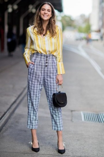 Yellow stripes and blue checks - flipped