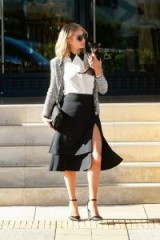 Paris Hilton leaves court after testifying against a hacker in Los Angeles May 2018 – celebrity style