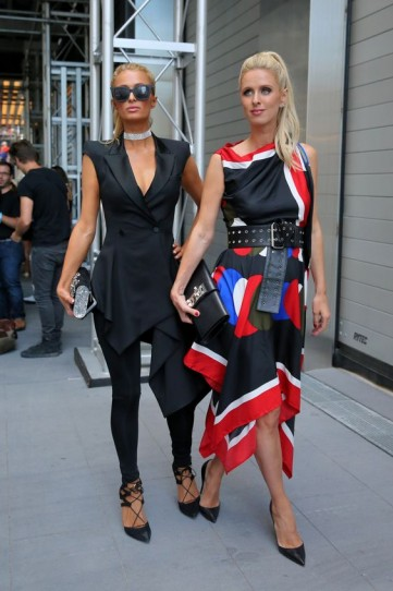 Paris Hilton and Nicky Hilton attend the Monse Fashion Show during NYFW September 2017 – celebrity sisters