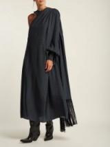 HILLIER BARTLEY Polka-dot one-shoulder silk dress ~ statement style clothing