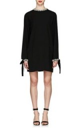 PRADA Jeweled Tech-Cady Cocktail Dress ~ chic evening wear ~ lbd