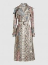 PREEN BY THORNTON BREGAZZI Peggy Python-Print Twill Trench Coat ~ glamorous belted outerwear