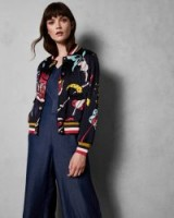 TED BAKER YAVIS Printed bomber jacket – love florals