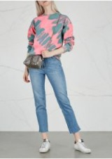 RAGYARD Pink and Green Tie-dye jersey sweatshirt – casual tops