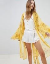 Rahi Cali Sunkissed Floral Kimono / yellow lightweight coats