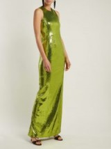 GALVAN Reflection green sequinned gown ~ evening glamour ~ long shimmering event dresses