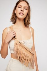 Cut n Paste Rio Fringed Belt Bag in tan | boho fanny packs
