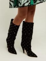 VALENTINO Rockstud black suede boots