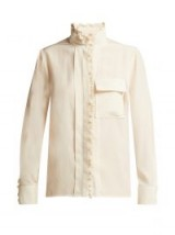 CHLOÉ Ruffled silk high neck blouse