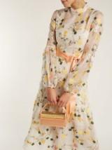 ERDEM Sandra floral print organza gown ~ romantic event wear ~ summer garden party