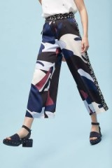 Selected Femme Lillia Cropped Wide-Leg Trousers | abstract printed pants