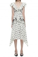 Self Portrait Sleeveless Printed Star Panelled Dress