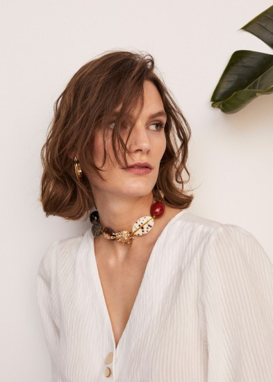 MANGO Shells bead necklace | sea inspired jewellery