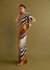 MANGO Striped asymmetrical dress | one shoulder asymmetric maxi | chic summer event look
