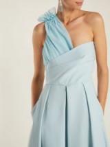 PREEN BY THORNTON BREGAZZI Ted asymmetric-bodice cady midi dress ~ ruched one shoulder