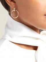 SPINELLI KILCOLLIN Theano diamond, 18kt gold & rose-gold earrings ~ chic modern style jewellery
