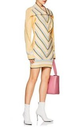 Y/PROJECT Striped Chevron-Knit Cotton-Blend Sweaterdress | yellow jumper dress