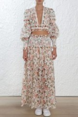 Zimmermann Radiate Smocked Full Skirt
