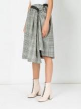 AALTO checkered skirt black/white check / draped skirts