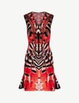 ALEXANDER MCQUEEN Butterfly jacquard mini dress red/orange/black – bold prints
