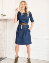 Boden ALICE DENIM DRESS BRIGHT BLUE ~ casual style