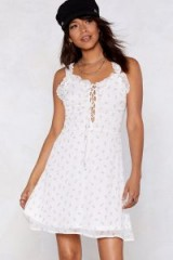 Nasty Gal Are You Feeling Bouquet Floral Dress in White | sweet summer dresses