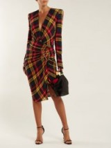 ALEXANDRE VAUTHIER Asymmetric checked dress ~ chic checks