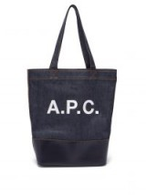 A.P.C. Axel Japanese-denim tote bag ~ large blue shopper