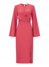 Miss Selfridge Bright Pink Twist Front Midi Shift Dress