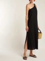 MARA HOFFMAN Camilla organic-cotton one-shoulder dress ~ effortless summer style