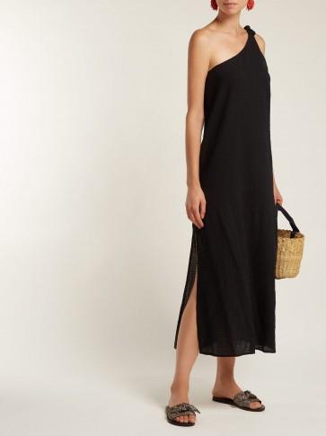 MARA HOFFMAN Camilla organic-cotton one-shoulder dress ~ effortless summer style
