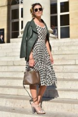 Mandy Moore attending the Fendi Fall 2018 show during Paris Couture Week ~ chic celebrity outfits