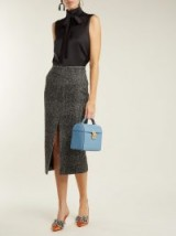 ROCHAS Check wool-blend pencil skirt ~ wardrobe essentials
