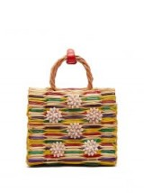 HEIMAT ATLANTICA Chito seashell-embellished basket bag. MINI STRAW BAGS
