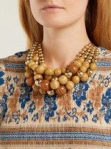 ROSANTICA BY MICHELA PANERO Cicala layered wooden-bead necklace ~ beaded statement jewellery