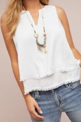 Cloth & Stone Tiered Tank Top in White | summer boho fashion